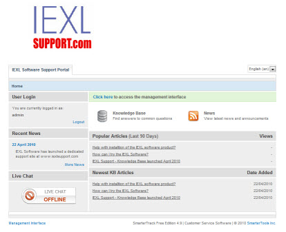 IEXL Support.com -IEXL Software Support Site